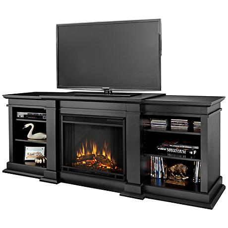 Real Flame Fresno Black Entertainment Electric Fireplace