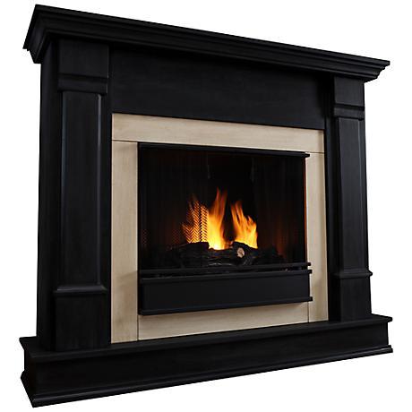 Real Flame Silverton Black Mantel Gel Fireplace