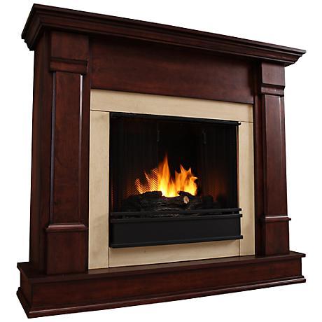 Real Flame Silverton Dark Mahogany Mantel Gel Fireplace