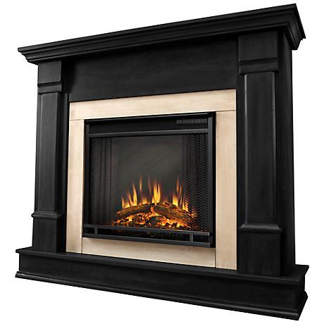 Real Flame Silverton Black Mantel Electric Fireplace