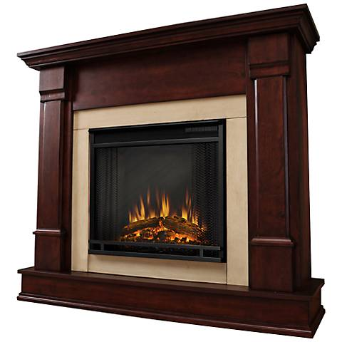Real Flame Silverton Dark Mahogany Electric Fireplace