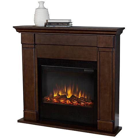 Real Flame Lowry Slim Line Black Maple Electric Fireplace