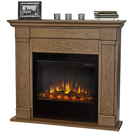 Real Flame Lowry Slim Line Blonde Oak Electric Fireplace