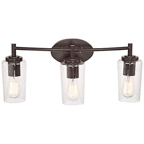 Quoizel Edison 23 Wide Bronze 3 Light Bathroom Fixture 6t345 Lamps Plus