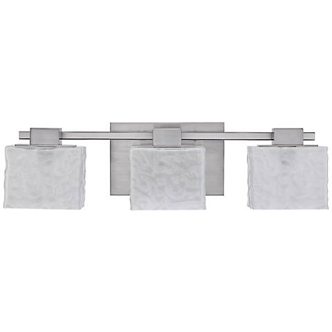 "Quoizel Melody 24"" Wide Nickel 3-Light Bath Fixture"