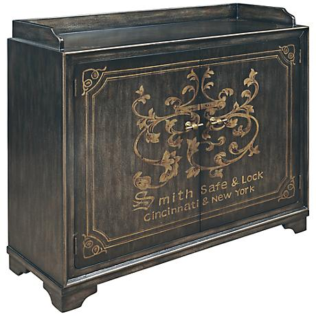 Pulaski Wysteria Lane Knox Hand Painted Plank Wine Cabinet
