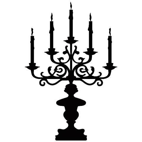 Candelabra Black Wall Decal