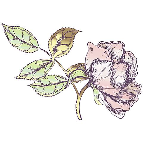 Rose Bud II Wall Decal