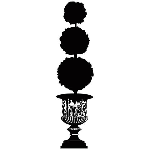 Topiary Silhouette Wall Decal