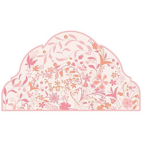 Pink Garden Twin Headboard Wall Decal