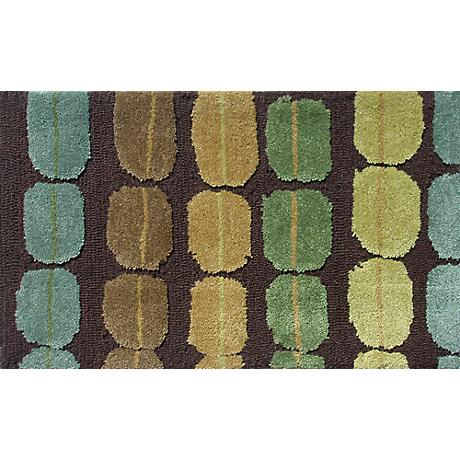 Crete Brown and Green Doormat