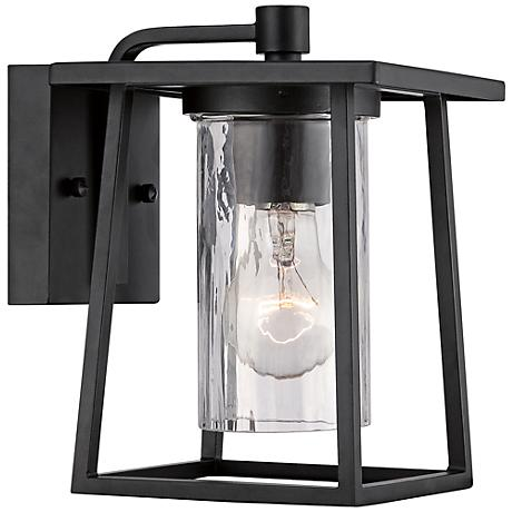 """Quoizel Lodge 9"""" High Black Outdoor Wall Light"""