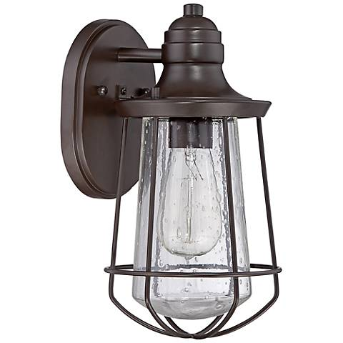 "Quoizel Marine 11 1/2"" High Bronze Outdoor Wall Light"