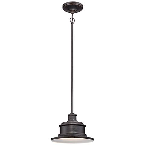 "Quoizel Seaford 8"" High Bronze Outdoor Hanging Light"