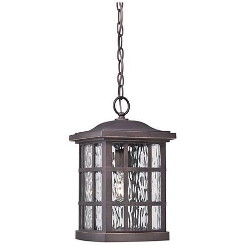 "Quoizel Stonington 15"" High Bronze Outdoor Hanging Light"