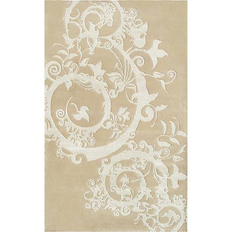 The Rug Market Cosa Bella 44168 Beige and Cream Wool