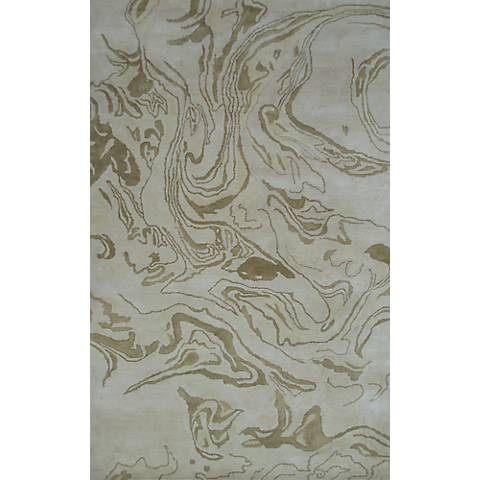 The Rug Market Maison 44521 Marble Gold Wool Area Rug
