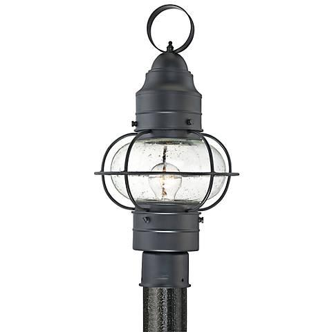 "Quoizel Cooper 18"" High Black Outdoor Post Light"