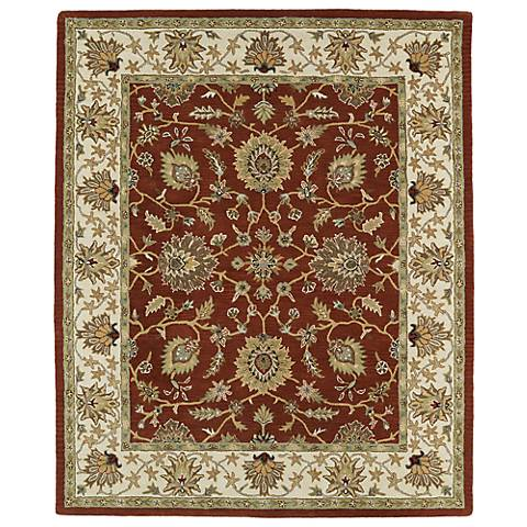 Kaleen Taj TAJ09-30 Rust Wool Area Rug