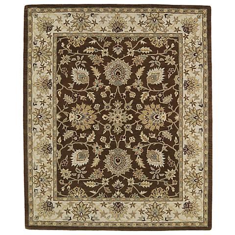Kaleen Taj TAJ09-40 Chocolate Wool Area Rug