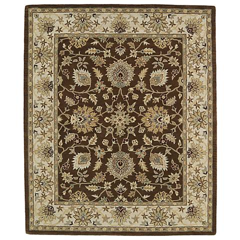 Kaleen Taj TAJ09-40 Chocolate Wool Area Rug