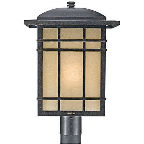 "Quoizel Hillcrest 19 1/2"" High Bronze Outdoor Post Light"