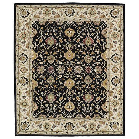 Kaleen Taj TAJ13-02 Black Wool Area Rug