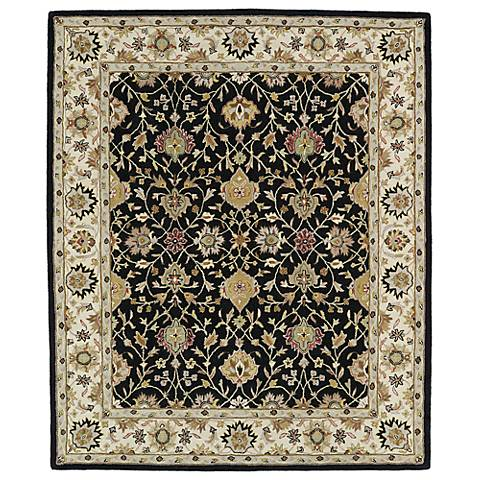 Kaleen Taj TAJ13-02 Black Wool Area Rug