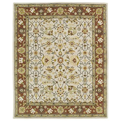 Kaleen Taj TAJ15-01 Ivory Wool Area Rug