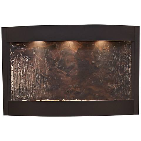 Calming Waters Featherstone Textured Black Wall Fountain