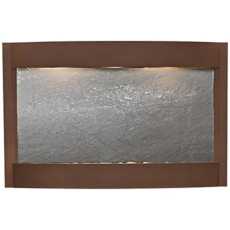 """Calming Waters Black Stone Woodland Brown 35""""H Wall Fountain"""