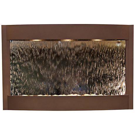 Calming Waters Mirrored Woodland Brown Wall Fountain