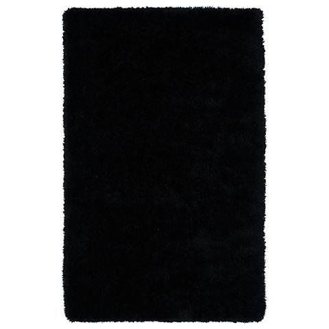 Kaleen Posh PSH01-02 Black Shag Area Rug