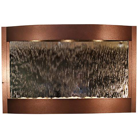 "Calming Waters Mirrored Copper Vein 35"" High Wall Fountain"