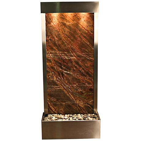 "Harmony River Steel Indoor Brown Marble 70"" High Fountain"