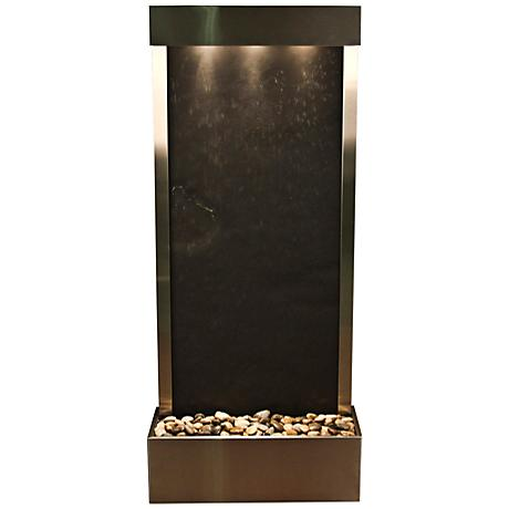 """Harmony River Steel Indoor Black Featherstone 70""""H Fountain"""