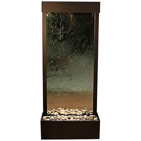 "Harmony River Antique Bronze Indoor Mirrored 70""H Fountain"