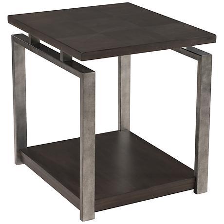 Metal furniture end table frames product details view metal - Alton Platinum Charcoal And Gunmetal End Table 6v203