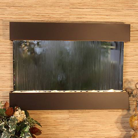 "Reflection Creek Mirror Blackened Copper 27""H Wall Fountain"