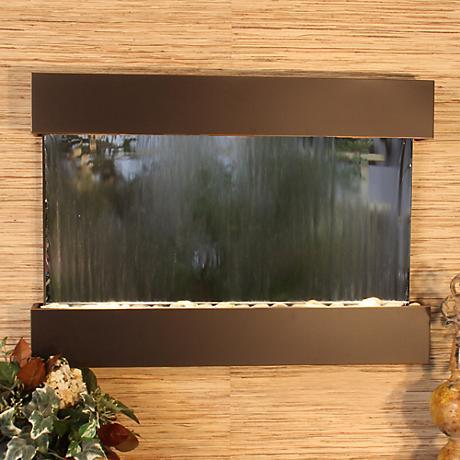 Reflection Creek Mirror Blackened Copper Wall Fountain
