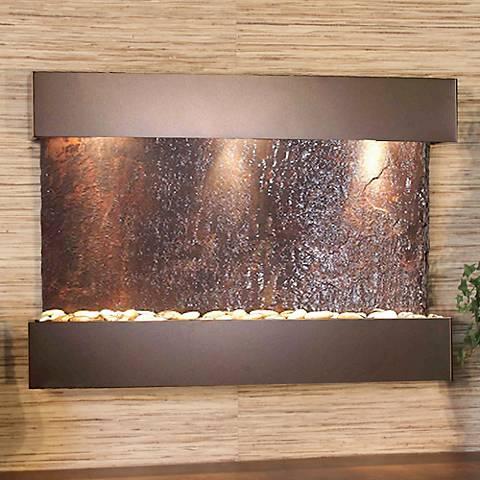 "Reflection Creek Slate Bronze 27"" High Wall Fountain"