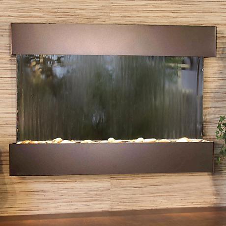 Reflection Creek Mirror Bronze Wall Fountain