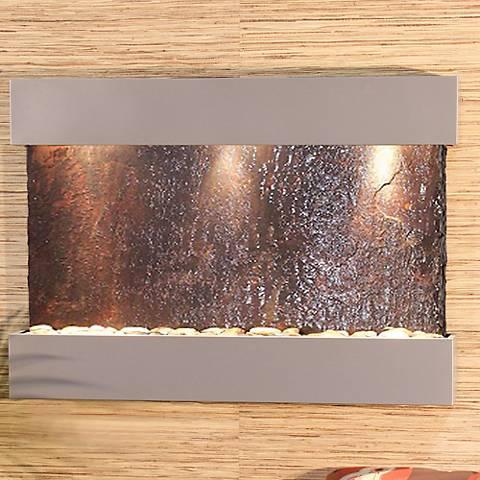 "Reflection Creek Slate Silver 27"" High Wall Fountain"