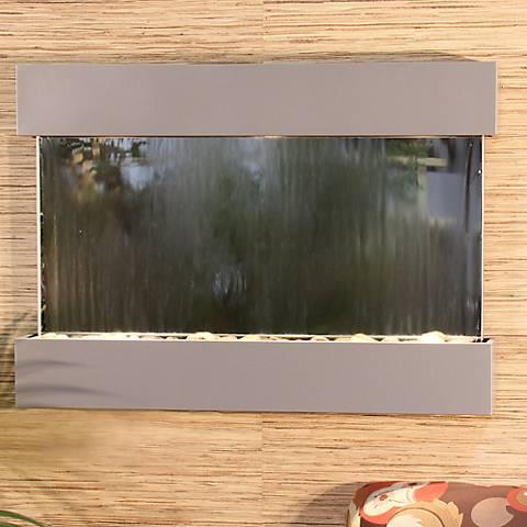 "Reflection Creek Mirror Silver 27"" High Wall Fountain"