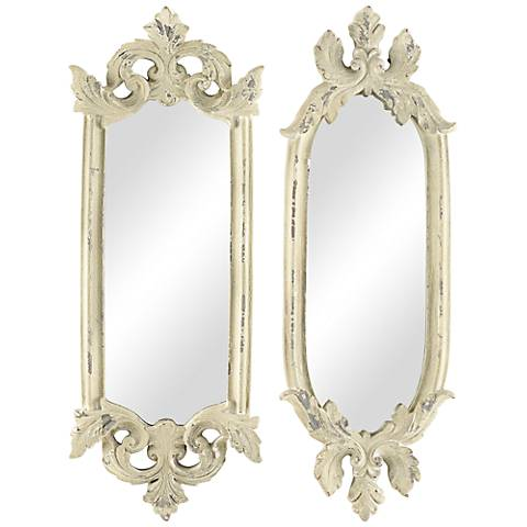 "Parisi Stone 2-Piece 15 1/2"" High Accent Wall Mirror Set"