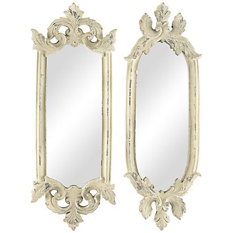 "Parisi Stone 2-Piece 15 1/2"" High Accent Wall Mirror Set"