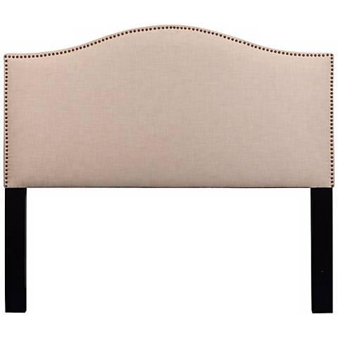 Meryl Heirloom Natural Upholstered Queen Headboard