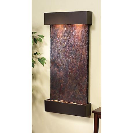 """Whispering Creek Slate Bronze 46"""" High Wall Fountain"""