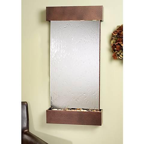 "Whispering Creek Mirror Copper Vein 46"" High Wall Fountain"