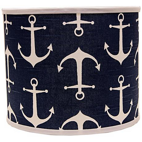 Navy Anchors Aweigh 12x12x10 Drum Shade (Spider)